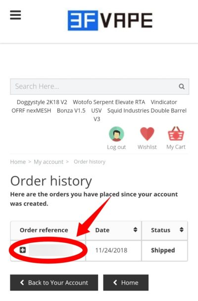 order history