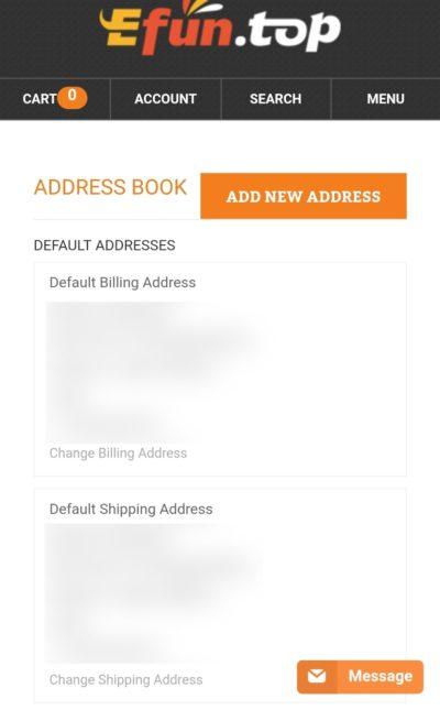 住所登録完了