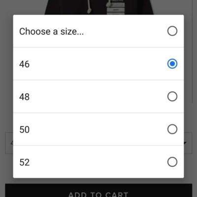 サイズ決定