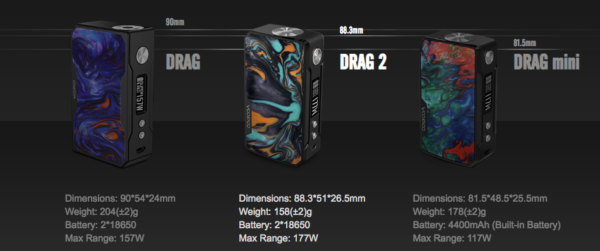 Drag3モデル比較