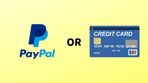 PayPalorクレジットカード