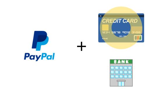paypalにはクレジットカードを登録しよう